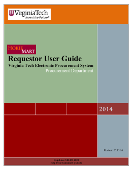 Requestor User Guide - Purchasing Department | Virginia Tech