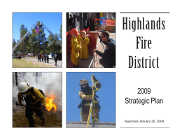 2008 Strategic Plan - Highlands Fire Department