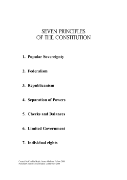 SEVEN PRINCIPLES OF THE CONSTITUTION