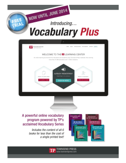 Vocabulary Plus - Townsend Press