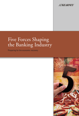 Five Forces Shaping the Banking Industry