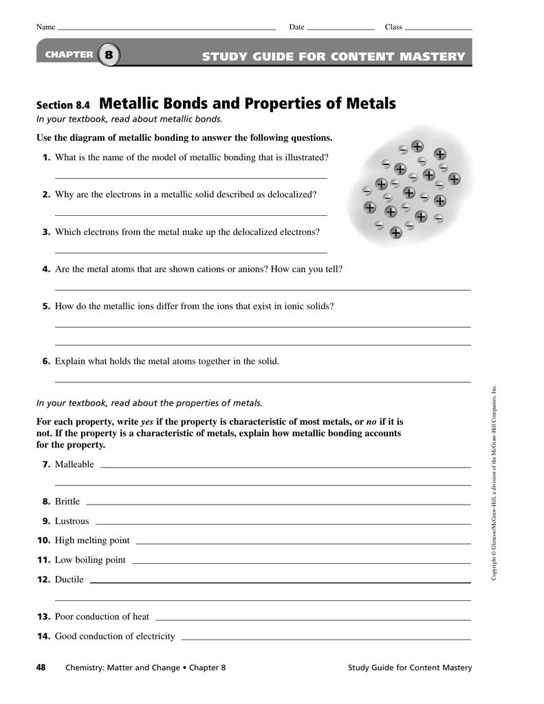 Metallic Bonding Worksheet Free Worksheets Library – Metallic Bonding Worksheet