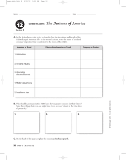 GUIDED READING The Business of America