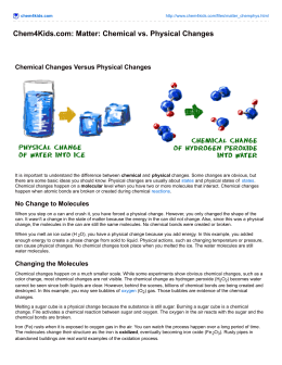 Chem4Kids.com: Matter: Chemical vs. Physical Changes