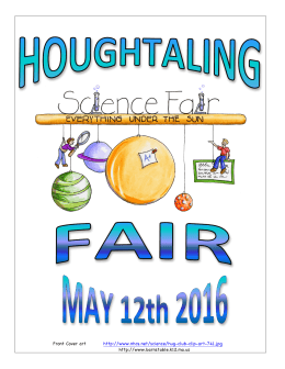 SCIENCE FAIR Manual 2016 - Houghtaling Elementary School