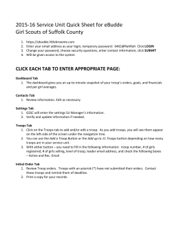2015-16 Service Unit Quick Sheet for eBudde Girl Scouts of Suffolk