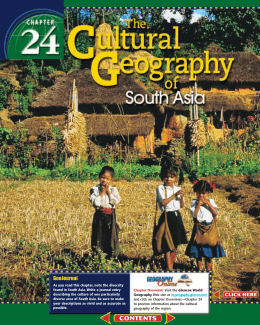 Chapter 24: The Cultural Geography of South Asia