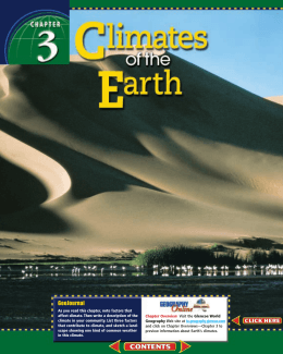 Chapter 3: Climates of the Earth