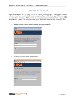 Registering with myUTSA ID+