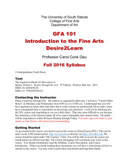 GFA 101 Introduction to the Fine Arts Desire2Learn