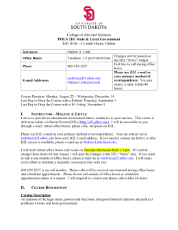 Syllabus - University of South Dakota