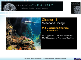 11.1 Chemical Reactions > Chapter 11