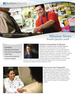 Mission News - Southern Bancorp