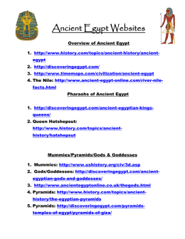 Ancient Egypt Websites - Dracut Public Schools