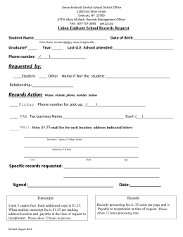 Records Request Form - Union-Endicott Central School District Home