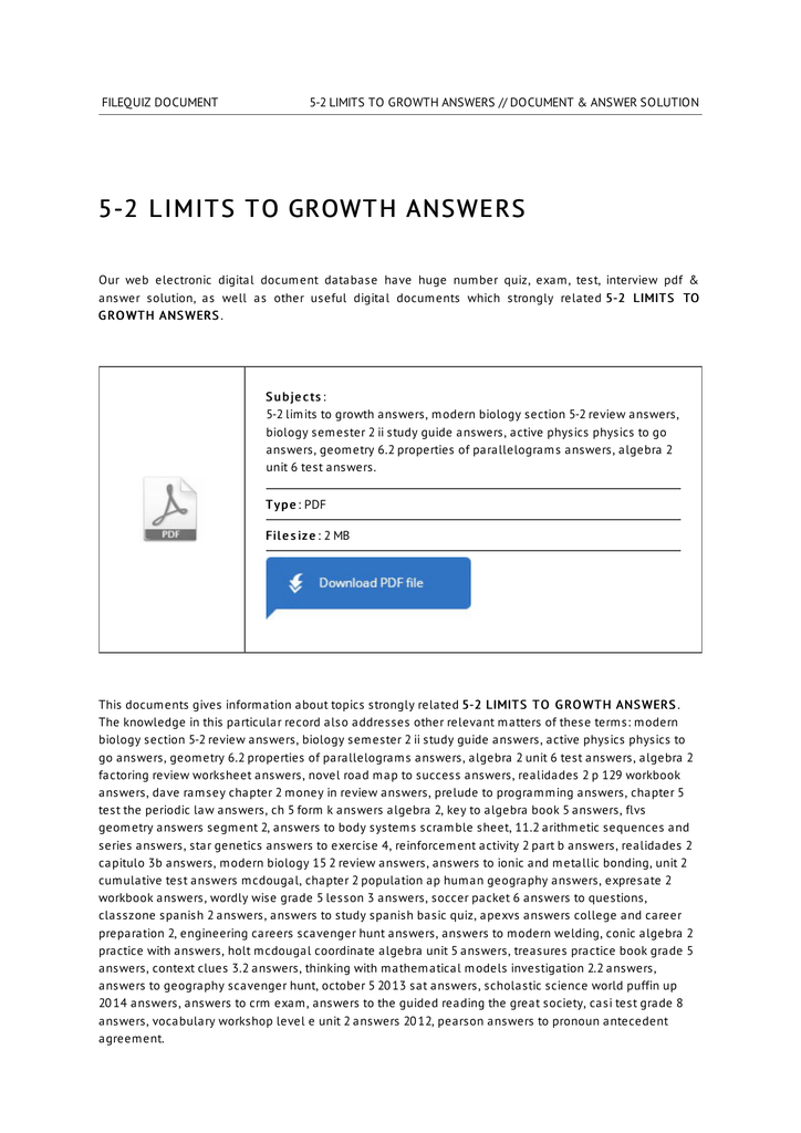 5 2 limits to growth answers publicscrutiny Gallery
