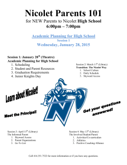 REVISED - Wed. Jan. 28 NHS 8th gr.Parent Info Night