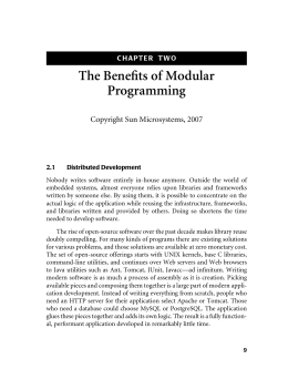 The Benefits of Modular Programming