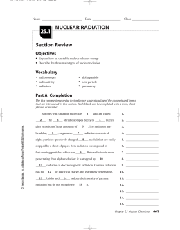 Nuclear Worksheet 3