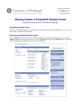 Viewing Grades Online with PeopleSoft Student Center 9