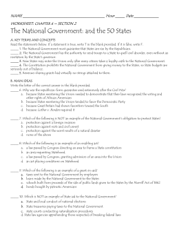The National Government: and the 50 States - TDS-Net