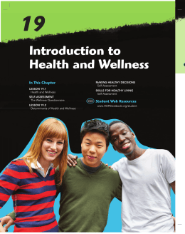 introduction to Health and Wellness