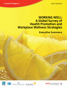 WORKING WELL: A Global Survey of Health Promotion