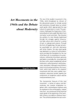Art Movements in the 1960s and the Debate about Modernity
