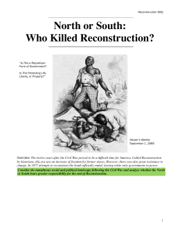 North or South: Who Killed Reconstruction?