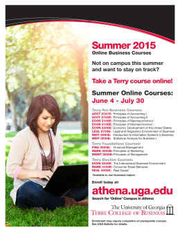 athena.uga.edu - Terry College of Business