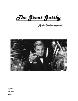 The Great Gatsby - Mrs. Brull`s Classroom