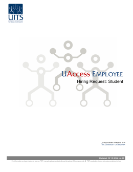 UAccess EMPLOYEE - UITS