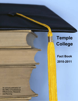 Fact Book 2011 - Temple College