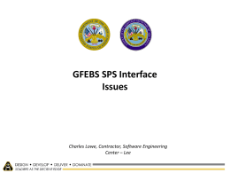 GFEBS SPS Interface Issues