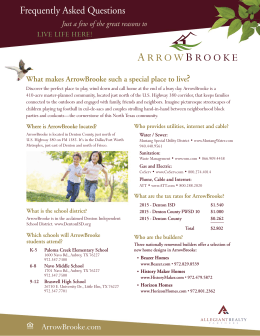 FAQ Sheet - ArrowBrooke