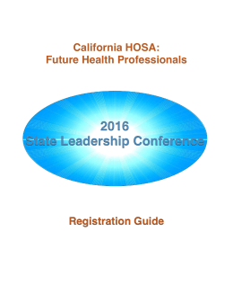SLC Registration Guide 2016 - Cal-HOSA