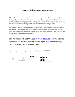 The resources on RPDP website www.rpdp.net include sample dot