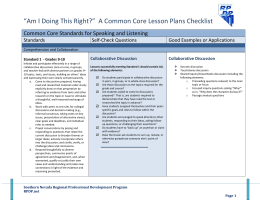 A Common Core Lesson Plans Checklist