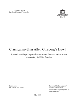 Classical myth in Allen Ginsberg`s Howl