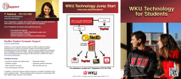 WKU Technology for Students WKU Technology for Students Support