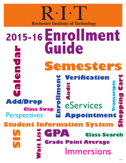 Semesters - RIT - Student Information System