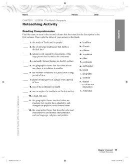 Reteaching Activity