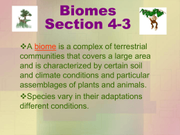 Biomes Section 4-3