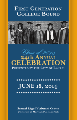 2014 Celebration Program - First Generation College Bound