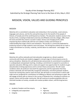 mission, vision, values and guiding principles