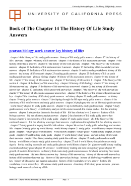 Chapter 14 The History Of Life Study Answers
