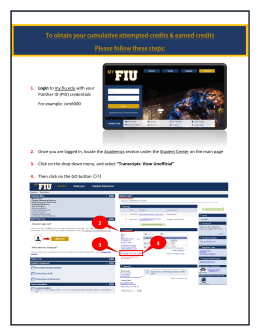 1. Login to my.fiu.edu with your Panther ID (PID) credentials For