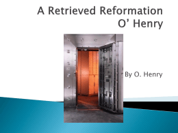"Wikispaces""A Retrieved Reformation"" is the story of"