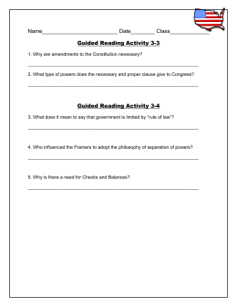 Guided Reading Activity 3-3 and 3-4