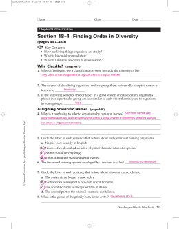 Section 18–1 Finding Order in Diversity